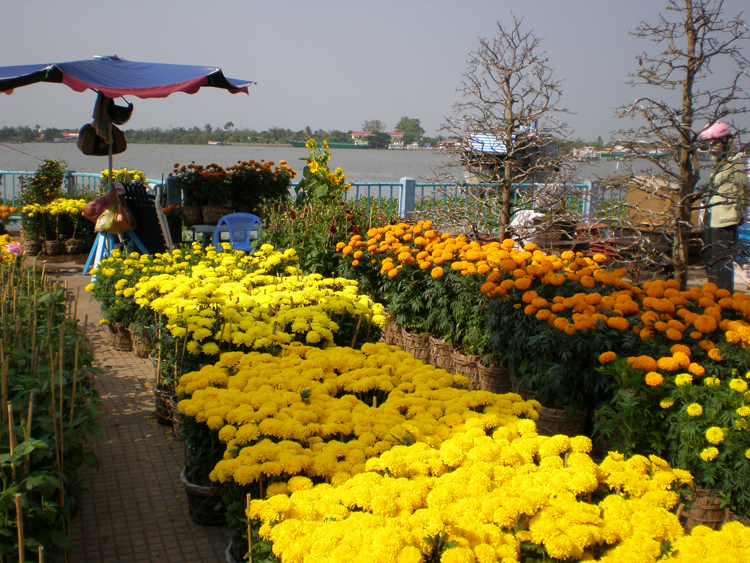 Tien River Flower Market