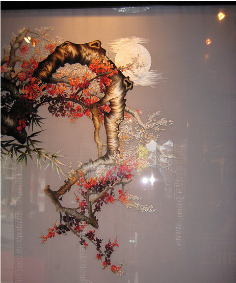 Xq embroidery painting in photos people culture